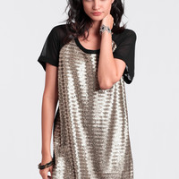 Serpentine Sequins Dress By Gentle Fawn