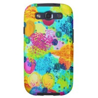 TIME FOR BUBBLY - Colorful Bright Bold Abstract Galaxy SIII Cases from Zazzle.com