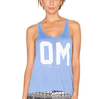 Spiritual Gangster Om Favorite Racerback Tank in Jacobs Blue