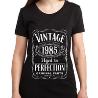 Vintage Aged Of Perfection 30th Women Tshirt