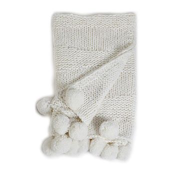 Oulu Winter White Throw by Pom Pom at Home