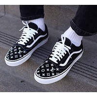 Custom Vans Old Skool Handpainted black