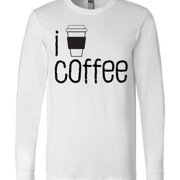 I COFFEE COFFEE - Canvas Long Sleeve T-Shirt
