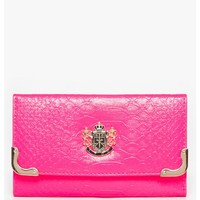 LYDC Metallic Trim Purse in neon pink