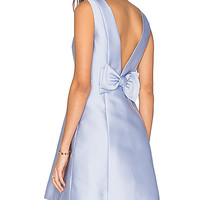 kate spade new york Open Back Bow Dress in Morning Dawn