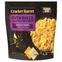 Cracker Barrel Oven Baked Macaroni & Cheese Dinner Cheddar Havarti - 12.3oz