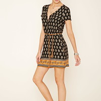 Belted Ornate Print Dress | Forever 21 - 2000204509