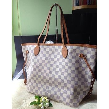 LV Louis Vuitton Fashionable Women's Shopping Leather Tote F