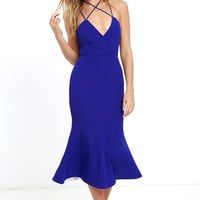 Elliatt Token Royal Blue Midi Dress