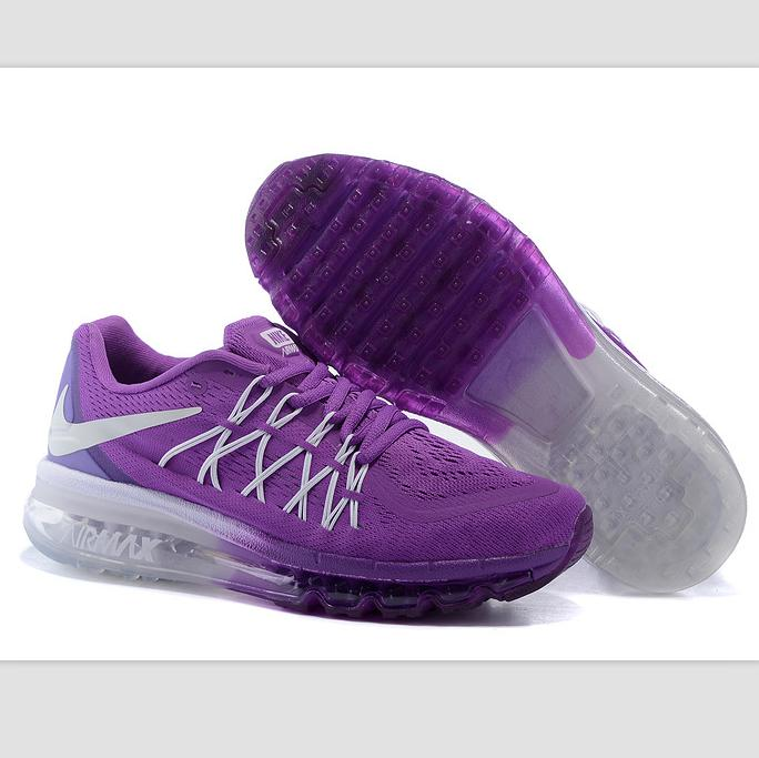 """Image of """"NIKE"""" Trending AirMax Behind the hook section rainbow knited line Fashion Casual Sports Shoes Purple white hook (purple white soles)"""