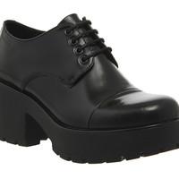 Vagabond Dioon Shoes Black Box Leather Exclusive - Mid Heels