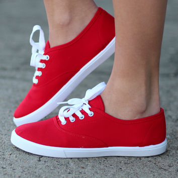 Favorite Canvas Sneakers {Red}