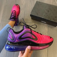 Nike Air Max 720 Sunset Hyper Grape Black Hyper Pink Gym shoes