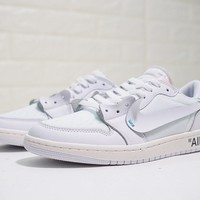 Virgil Abloh OFF white x Nike Air Jordan 1 Low AA3834-100 Shoe