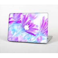 "The Vibrant Blue & Purple Flower Field Skin Set for the Apple MacBook Pro 15"" with Retina Display"