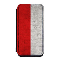 Old Grunge Metal Flag of Indonesia - Indonesian Flag Premium Faux PU Leather Case for iPhone 5C by World Flags