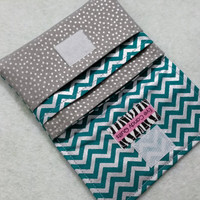 NEW! Shiny Teal & Silver Chevron Wallets for Women, Small Wallet, Teal / Silver Wallets, Chevron wallet, Change Purse, Card Wallet