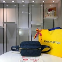 Kuyou Lv Louis Vuitton Gb29714 M44741 Monogram Denim Bags All Collections Outdoor Purple Bumbag 21.0 X 17.0 X 5.0 Cm