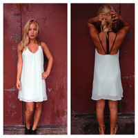 Mint Caitlin Open Back Dress