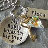Personalized Hand Stamped Horse by EquineExpressionsbyD on Etsy