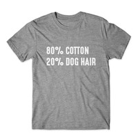 80 % Cotton 20% Dog Hair T-Shirt 100% Cotton Premium Tee