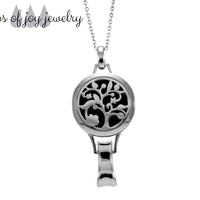 Stainless Steel Lanyard Diffuser Necklace - Flowering Tree