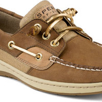 Ivyfish Metallic Linen 3-Eye Boat Shoe