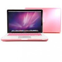 GMYLE 2 in 1 - Pink Clear Crystal See Thru Hard Case Cover for Macbook Pro 13 inch - With Silicone Pink Protective Keyboard Cover (Not Fit for Macbook Pro Retina 13)