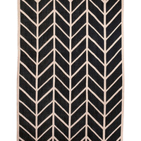 Serena & Lily Black & Flax Feather Rug | zulily