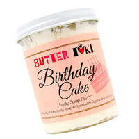 STRAWBERRY CAKE FROSTING Whipped Body Soap Fluff - Clearance