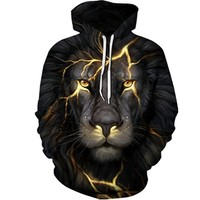 Black and Gold Lion Hoodie