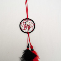 Small Betty Boop Dreamcatcher-Car hanger-hanging decoration-black and red