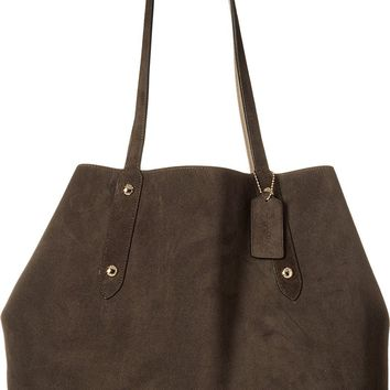 COACH Womens Suede Large Market Tote