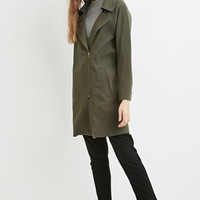 Asymmetrical Zipped-Front Jacket | Forever 21 - 2000163629