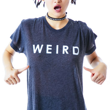 Wildfox Couture Weird Oversized T Clean Black