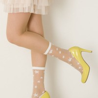 Random star pattern see-through socks: socks | tutu Anna official online store - tutuanna