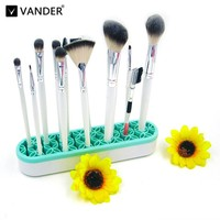 5 Colors Silicone Makeup Brushes Holder Box Makeup Brush Rack Holder Stand Cosmetic Tool Multifunctional Make Up Accessories
