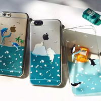 Swimming Marine Animals Iphone Cases for 6 S Plus