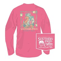 Gimme S'more Long Sleeve Tee in Pink Jam by Southern Fried Cotton