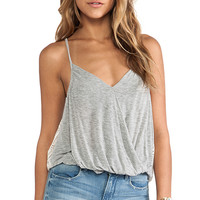 Free People Miles Away Tank in Gray