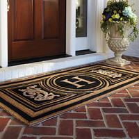 Wingate Monogrammed Entry Mat