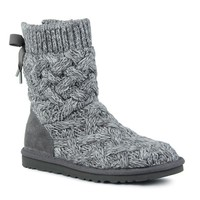 Ugg Bow Bandage Knit Warm Snow Boots