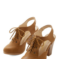 ModCloth Menswear Inspired As a Matter of Stacked Heel