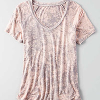 AEO Soft & Sexy Favorite T-Shirt , Stone Gray
