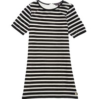 Angel / Pitch Blac Flocked Stripe Dress by Juicy Couture,