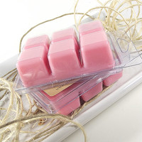 Soy Candle Tarts - Sweet Pea scented Soy Candle Melts -- (6)Cubes/3 Ounces