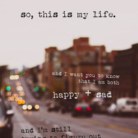 perks of being a wallflower - happy + sad Art Print by lissalaine