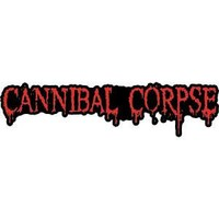 Cannibal Corpse Men's Embroidered Patch Black