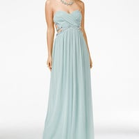 City Studios Juniors' Jeweled Strapless Gown - Juniors Shop All Prom Dresses - Macy's