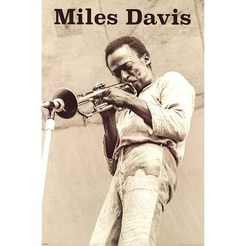 "Miles Davis On Stage Poster 24""x36"""